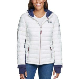 TOMMY HILFIGER Ladies Hooded Jacket Women's Puffer